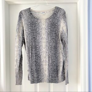Old Navy Snake Print Sweater XL